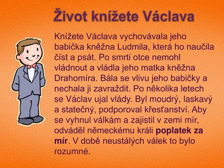 Život knížete Václava