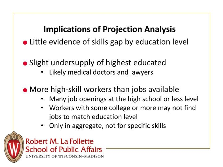 Implications of Projection Analysis