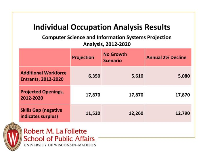 Individual Occupation Analysis Results