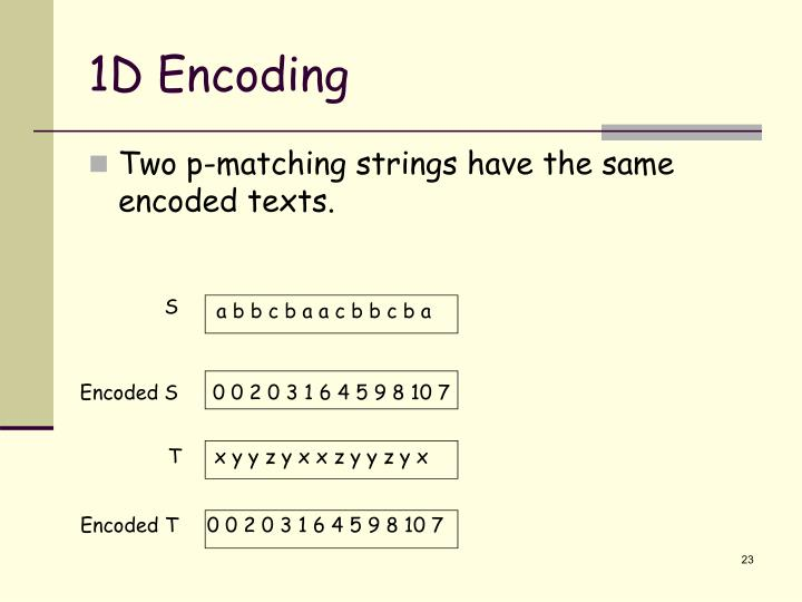 1D Encoding