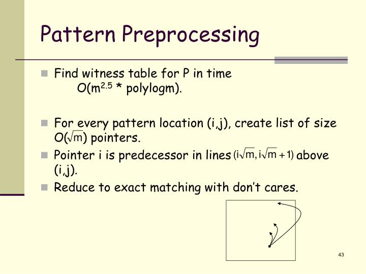 Pattern Preprocessing