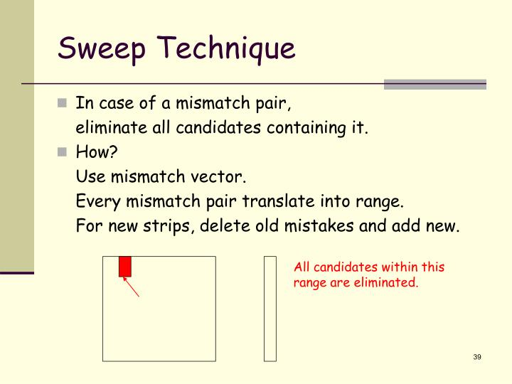 Sweep Technique