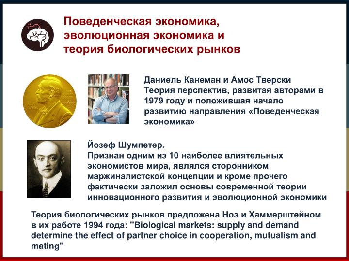 Поведенческая экономика, эволюционная экономика и теория биологических рынков