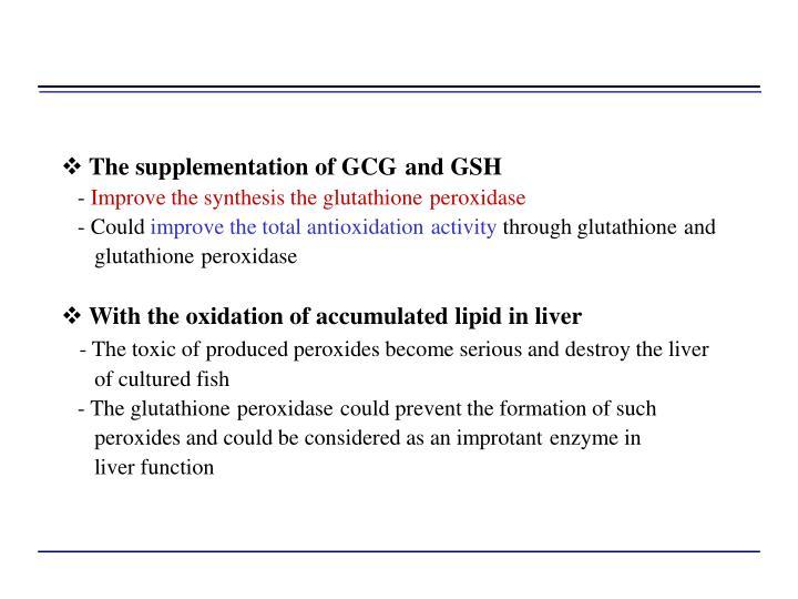 The supplementation of GCG
