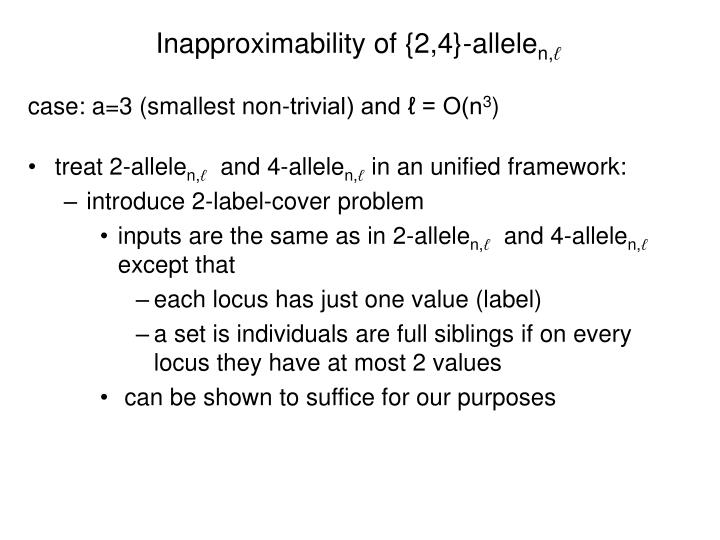 Inapproximability of {2,4}-allele