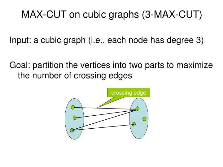 MAX-CUT on cubic graphs (3-MAX-CUT)