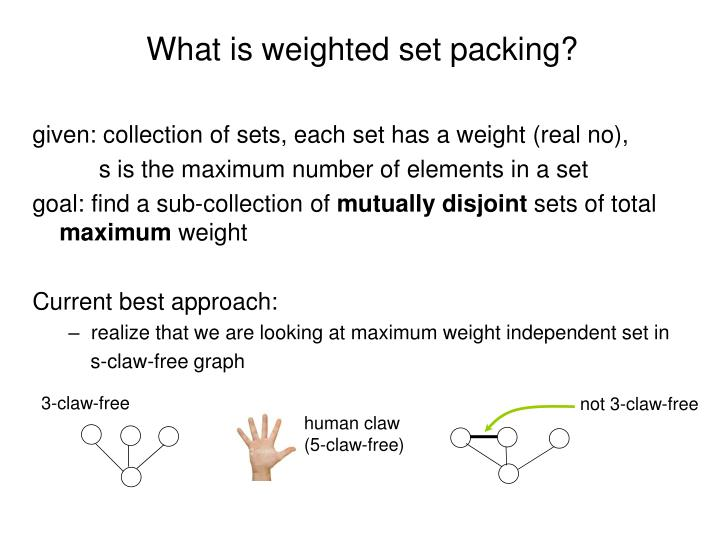 What is weighted set packing?