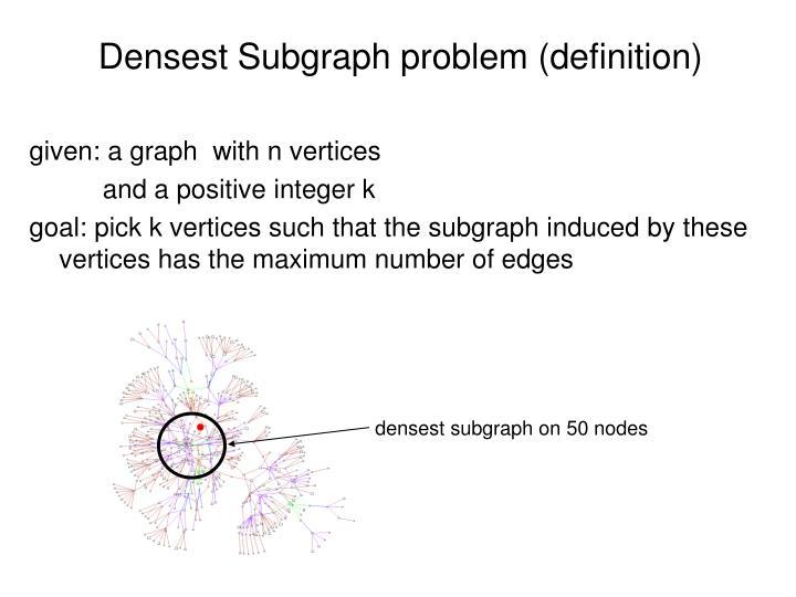 Densest Subgraph problem (definition)