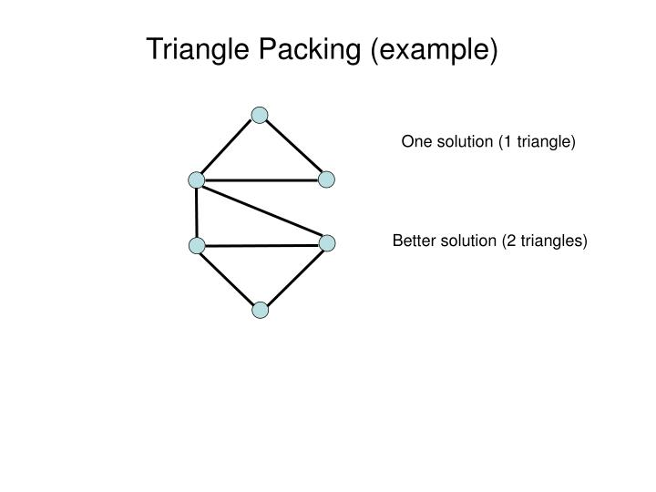 Triangle Packing (example)