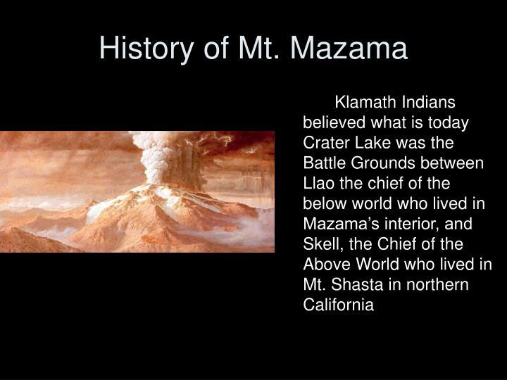 History of Mt. Mazama