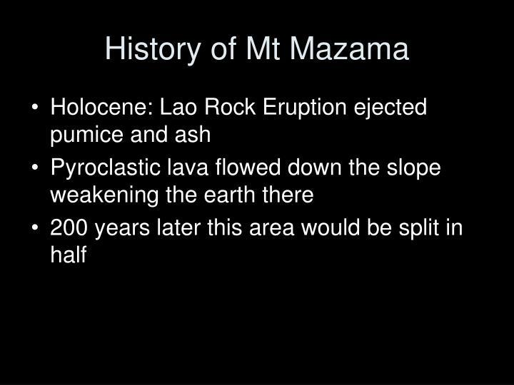 History of Mt Mazama