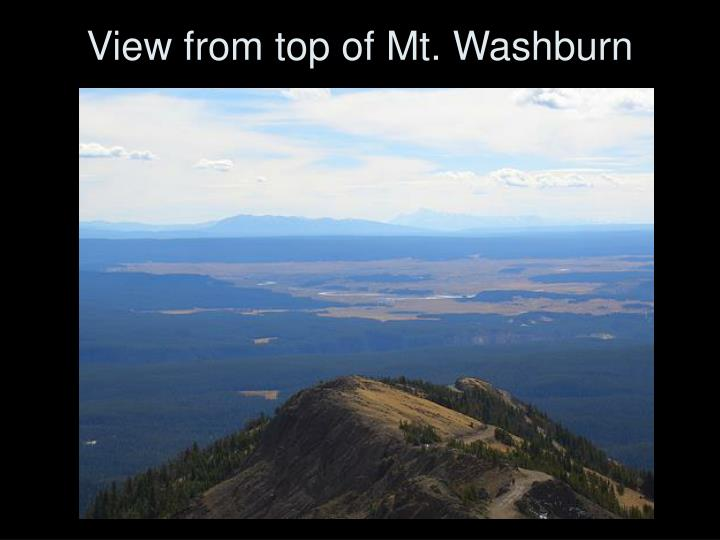 View from top of Mt. Washburn
