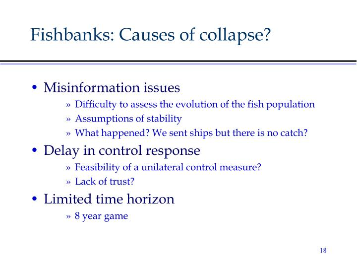 Fishbanks: Causes of collapse?