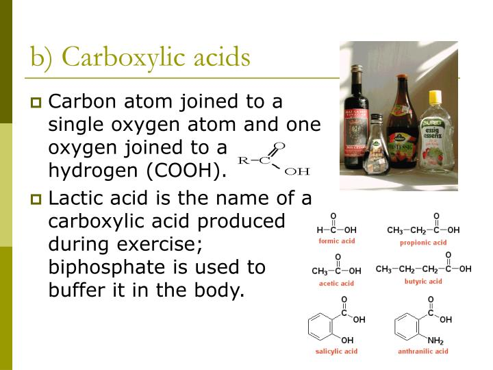 b) Carboxylic acids