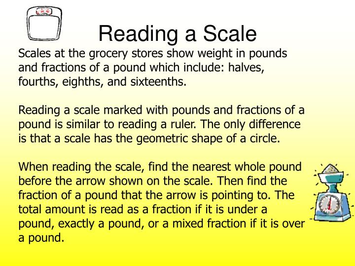 Reading a Scale