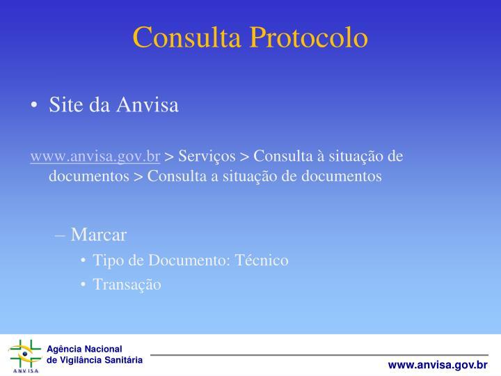 Consulta Protocolo
