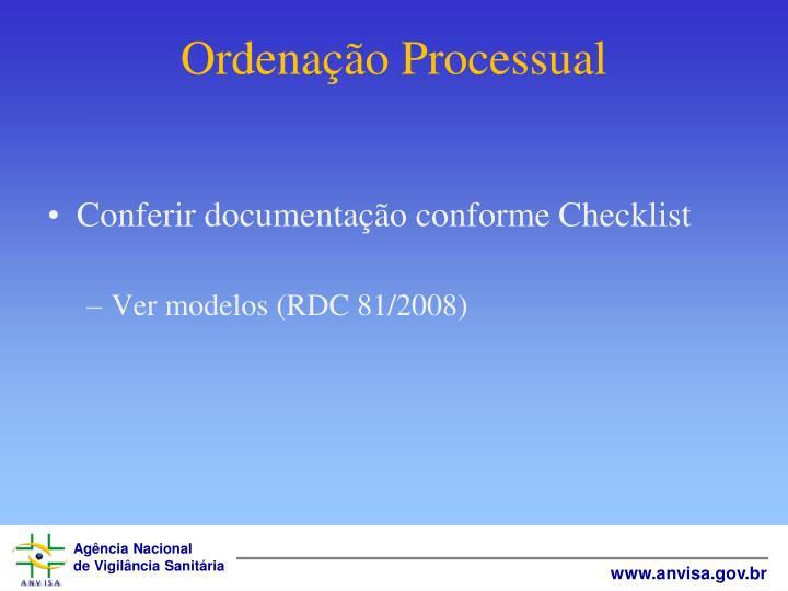 Ordenação Processual