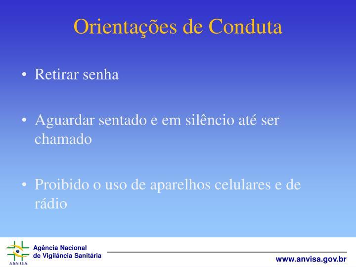 Orientações de Conduta