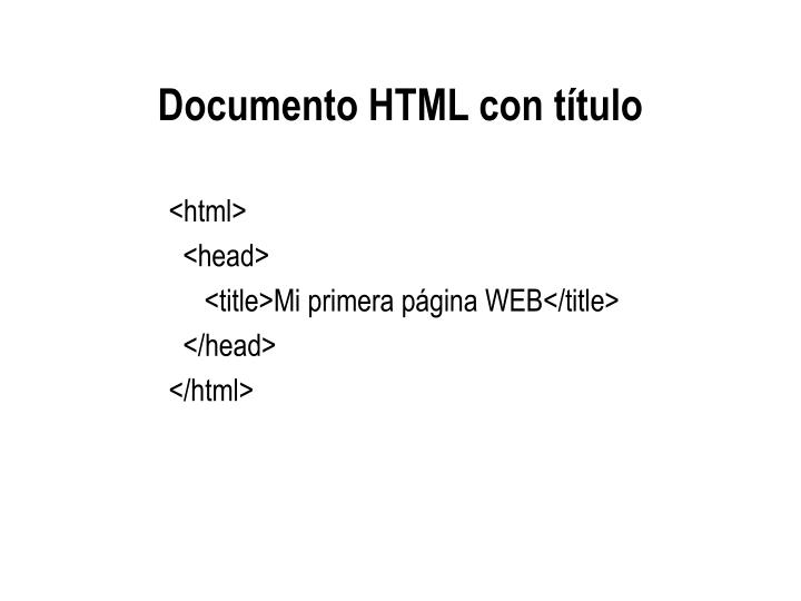 Documento HTML con título