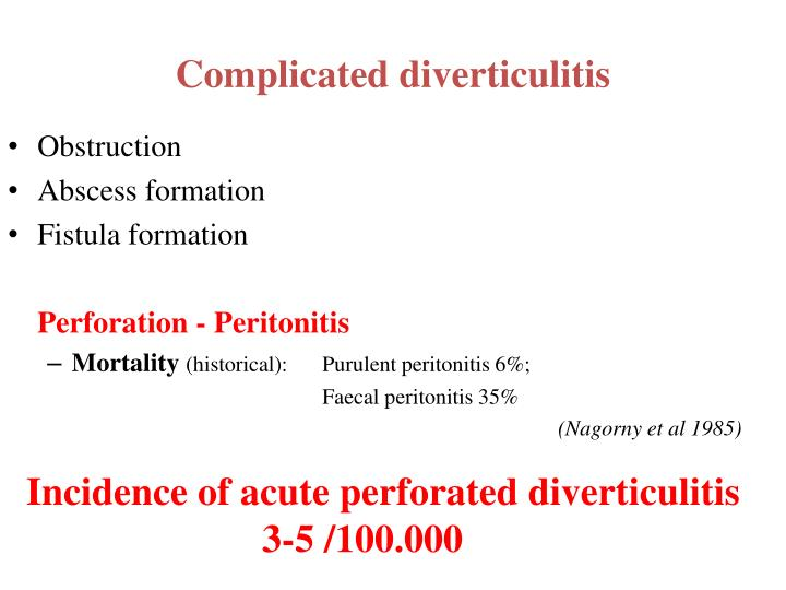 Complicated diverticulitis