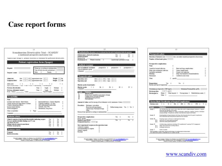 Case report forms