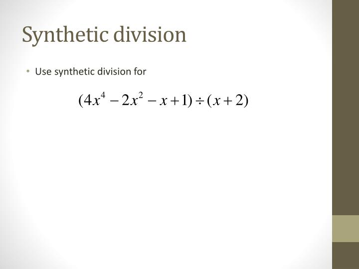 Synthetic division1