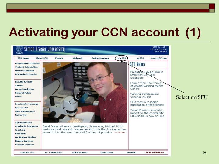 Activating your CCN account  (1)