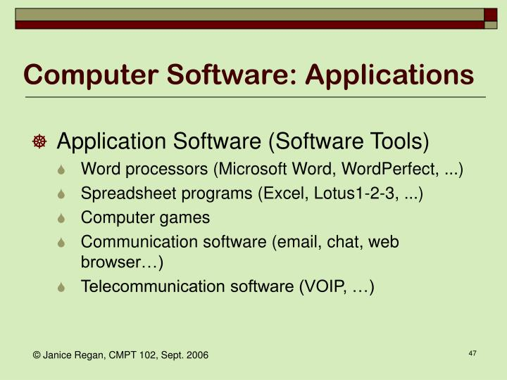 Computer Software: Applications