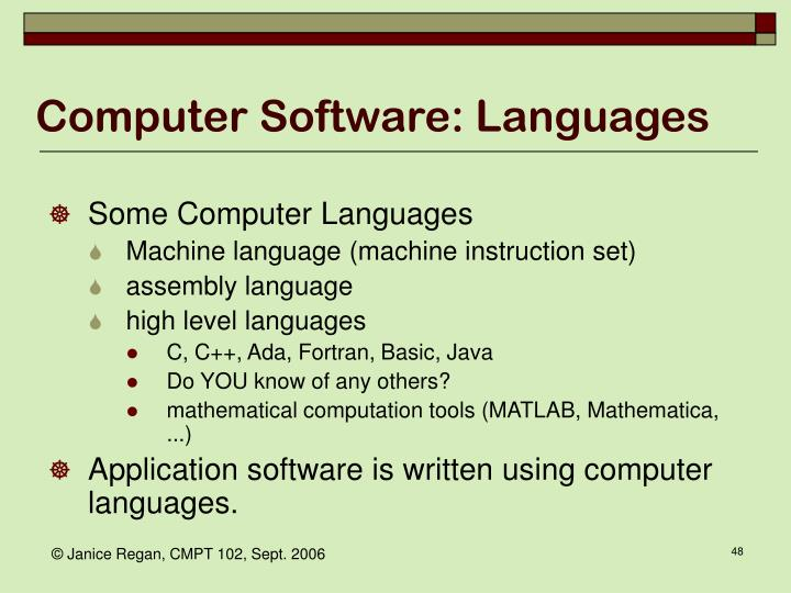 Computer Software: Languages