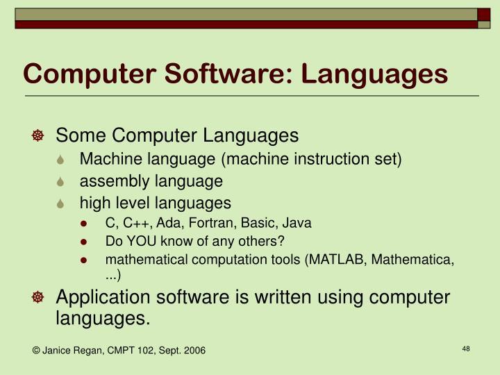 Computer Software: Languages