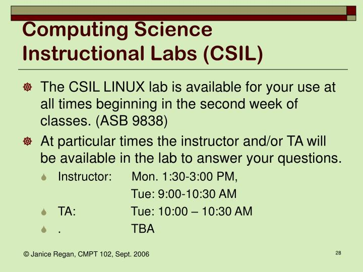Computing Science Instructional Labs (CSIL)