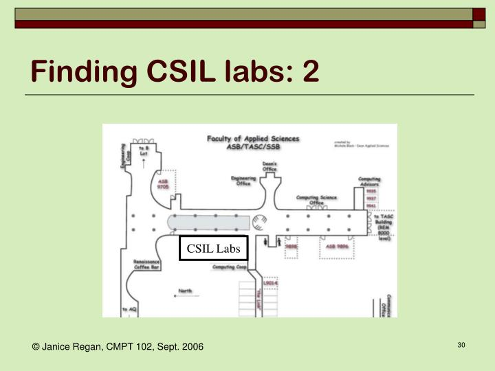 Finding CSIL labs: 2