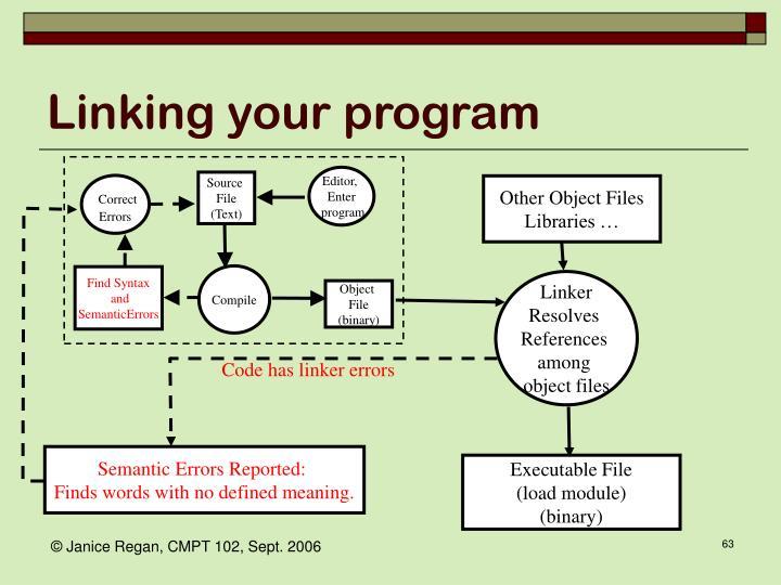 Linking your program