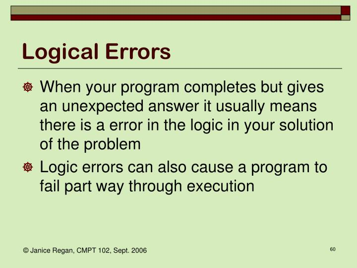 Logical Errors