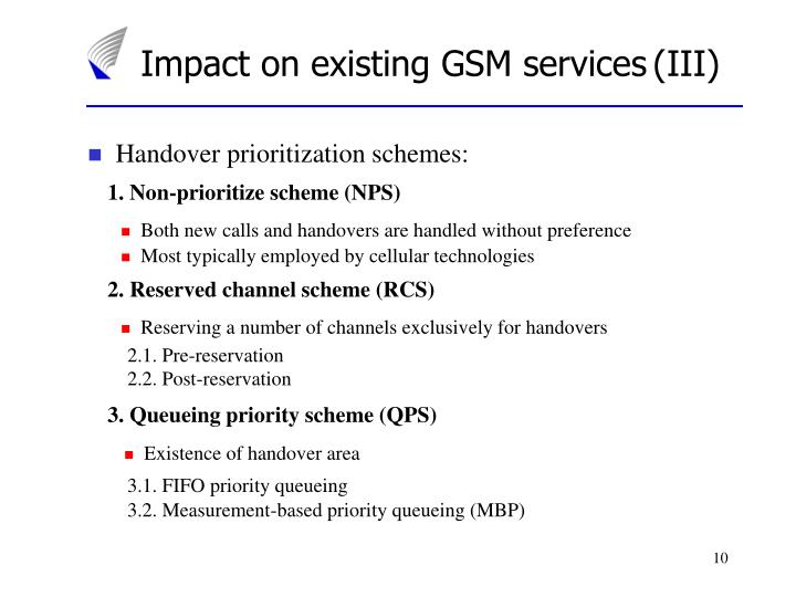 Impact on existing GSM services