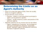 determining the limits on an agent s authority