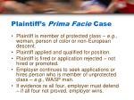 plaintiff s prima facie case