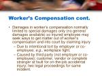 worker s compensation cont