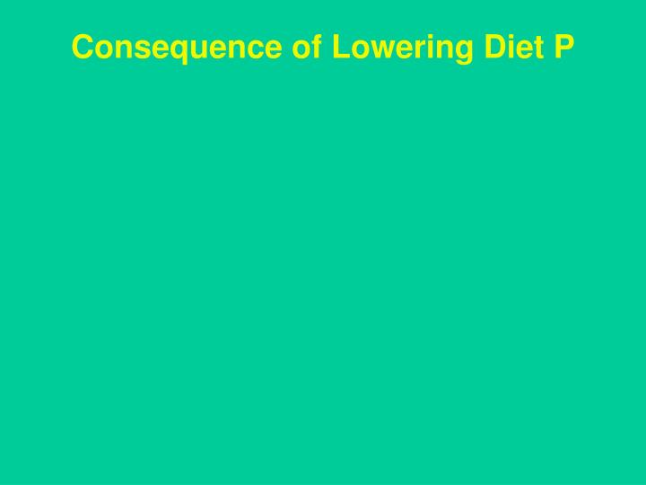 Consequence of Lowering Diet P