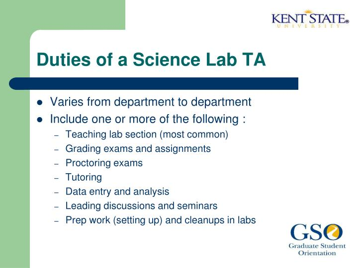 Duties of a Science Lab TA
