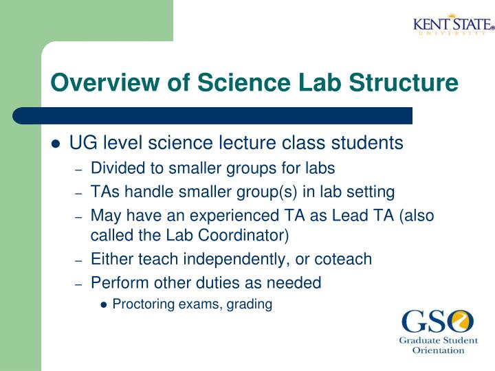 Overview of science lab structure