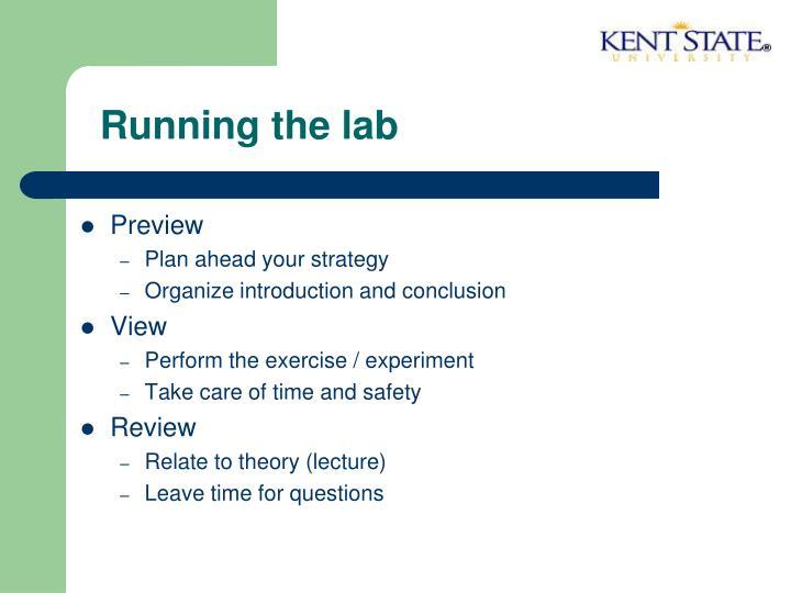 Running the lab