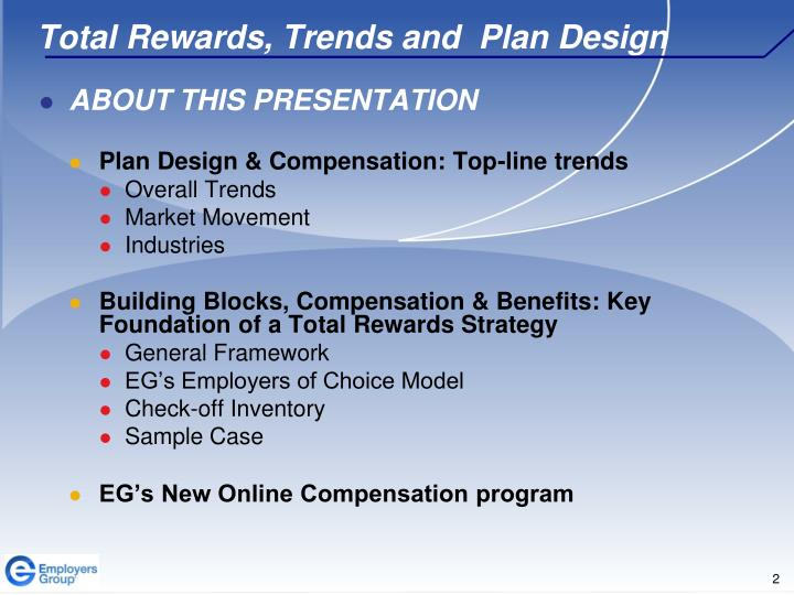Total rewards trends and plan design