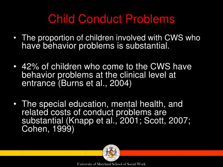 Child Conduct Problems