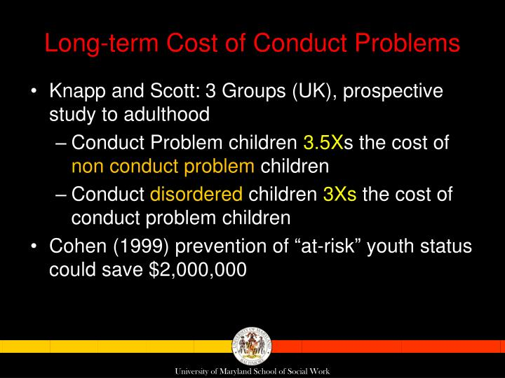 Long-term Cost of Conduct Problems