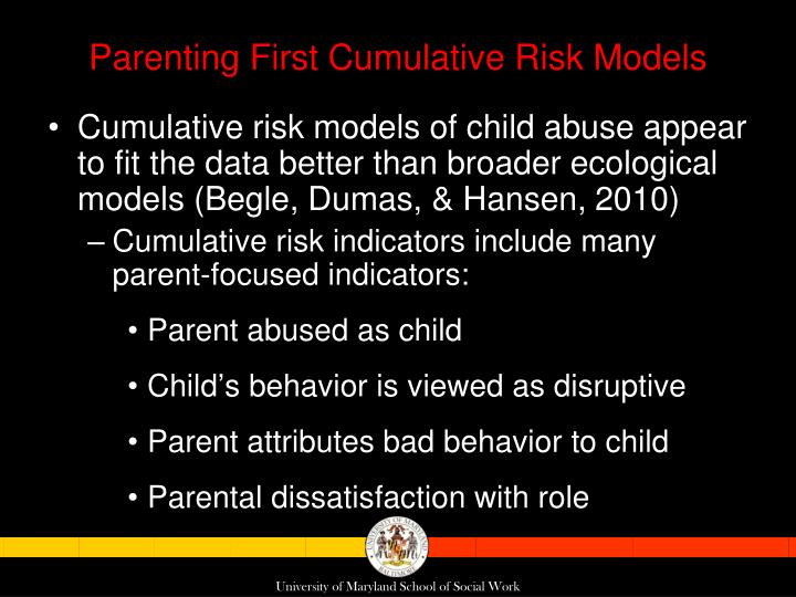 Parenting First Cumulative Risk Models