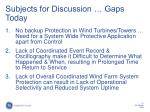 subjects for discussion gaps today