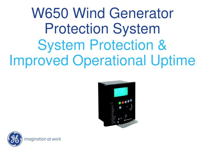 W650 wind generator protection system