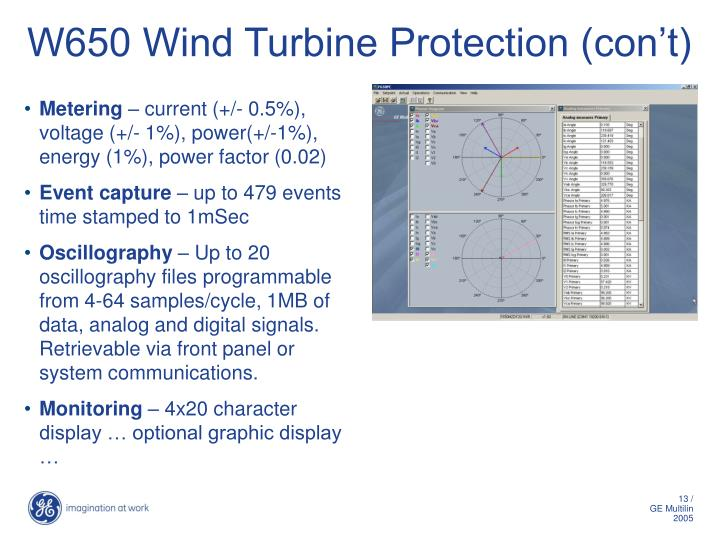 W650 Wind Turbine Protection (con't)