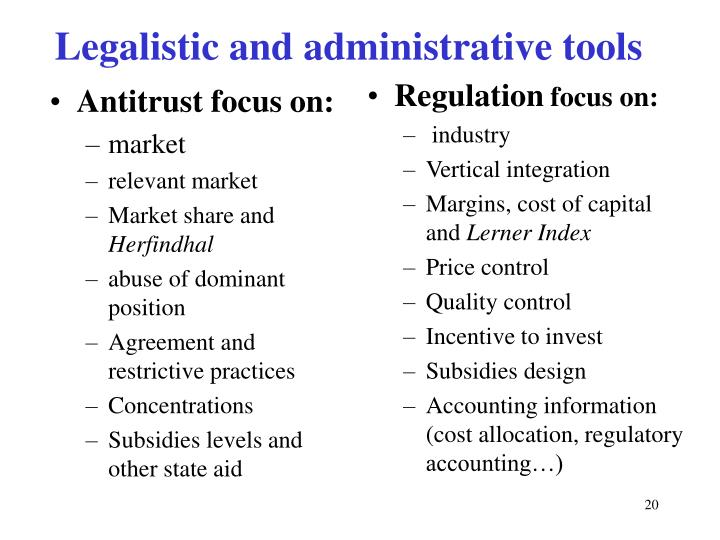 Antitrust focus on: